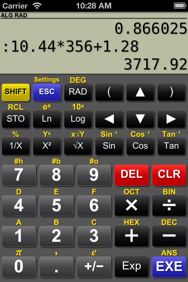 Application scientific calculator.